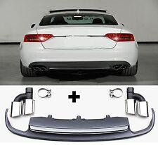 Für Audi A5 8T S5 RS5 grill 2012  Spoiler pare-chocs arrière tablier pare-ch #13
