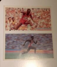 Carl Lewis And Ed Moses, Us Athlete Tea Cards, 92 OLYMPICS!!!!!