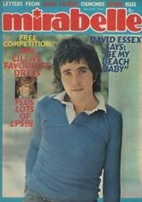 David Essex on Mirabelle Magazine Cover 28 September 1974    Suzi Quatro