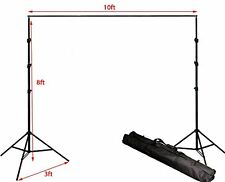 ePhoto Adjustable Background Backdrop Stands Photography Crossbar Frame Kit