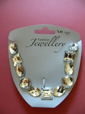 A Clear Diamond/Crystal Effect Necklace. New. Free Postage! Costume Jewellery