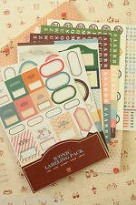 Iconic Labelling stickers kawaii diary planner filing archiving notebook labels