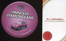 Disney DLR DCA Cars PRINCESS DIAMONDLANE Pink Carsland Button