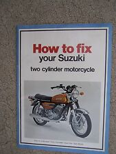 1975 Suzuki Two Cylinder Motorcycle Repair Manual How to Fix MORE IN OUR STORE R