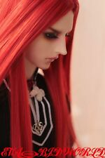 "Brand new 8-9"" 1/3 dollfie BJD SD LUTS Red hair wig 58-3#"