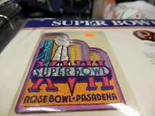 '83 Super Bowl Xvii Replica Patch With Game Nfl Football Notes Redskins Dolphins