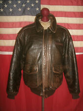 Superb  AVIREX  USAF Type A-2  Flight Bomber Motorcycle Leather Jacket . Size L