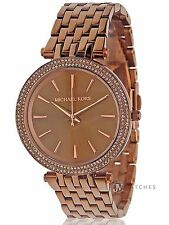 NEW WOMENS MICHAEL KORS (MK3416) DARCI SABLE ION PLATED WATCH