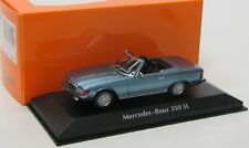 Mercedes Benz 350 SL / R107 ( 1974 ) blau met. / Maxichamps 1:43