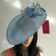 SKY BLUE Wedding Occasion Disc FASCINATOR Hat Mother Of The Bride