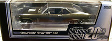 AUTO WORLD 1:18 SCALE DIECAST METAL BROWN 1969 CHEVROLET NOVA SS396