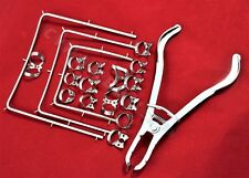 NEW Rubber Dam Kit Starter of 19 Pcs with Frame Punch Clamps Dental Instruments
