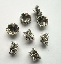 40pcs Tibet silver lotus Flower End Beads Caps 9x5 mm