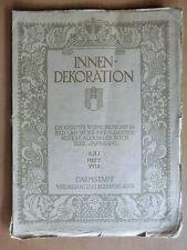 Innen-Dekoration Heft 7/1928 v. Hofrat Koch Möbel Einrichtung Gorge Wien ...