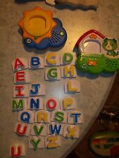 Leap Frog Fridge LOT Phonics SCOUT DOG & Sun Magnetic Letters ABC 24 letters