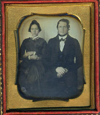 THE STURDY HUSBAND & HIS GORGEOUS WIFE DAG DAGUERREOTYPE