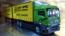 * Herpa 281010  MAN TGA LX Interchange Canvas Trailer Pöppel 1:87 Scale HO