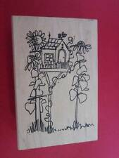 Imaginations-Rubber Stamps-Tall Birdhouse Flowers