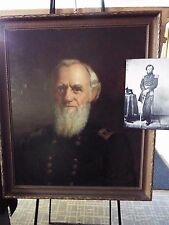 Civil War General R.W. Johnson - Original Oil Painting, Bible, and Cane