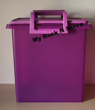 TUPPERWARE Carry All Takes A Lot with Handle Plum/Purple13.5Qt/ 58 Cup New