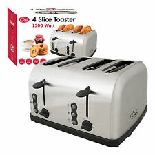 Quest 1500w 4 Slice Wide Slot Toaster Toast Maker With Reheat/Defrost Function