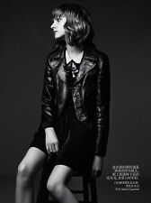Saint Laurent YSL (Hedi Slimane) Leather Smoking Spencer Jacket  FR 34 - $4490