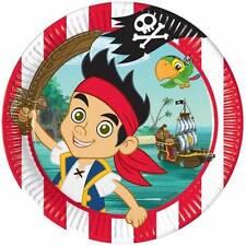 Jake & el Piratas De Nunca Jamás 8 Platos De Papel Para Fiesta 23cm Infantil