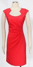 Calvin Klein Watermelon Dress Size 14 Polyester Rayon Cut Out Draped Women's *