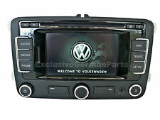 7 POST CODE! VW RNS 310 Sat Navigation System Caddy EOS Golf Jetta Passat Polo R
