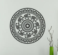 Mandala Wall Vinyl Decal India Henna Flower Vinyl Sticker Abstract Home Decor 9