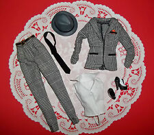 SINATRA BARBIE MODEL MUSE SILKSTONE VINTAGE HOUNDS TOOTH OUTFIT GANGSTER! NEW!!