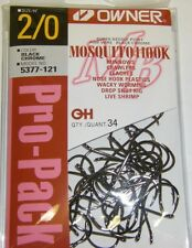 OWNER MOSQUITO HOOK FINE WIRE BASS FISHING #5377-121 SZ 2/0 QTY 34