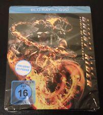 GHOST RIDER SPIRIT OF VENGEANCE Blu-Ray SteelBook w/Blue Top & Poster Very Rare!