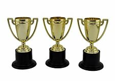 12x Novelty Winners Trophies Plastic Gold Winner Cup Party Game Favors