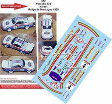 Decals 1/18 réf 372 Porsche 930 Karam Rallye de Montagne 1985