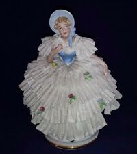 ANTIQUE DRESDEN LACE Gerold Tettau German Southern Belle Woman Figurine BAVARIA