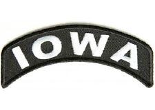 IOWA STATE EMBROIDERED ROCKER BIKER PATCH
