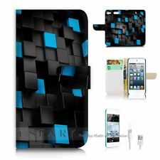 iPod Touch 6 iTouch 6 Flip Wallet Case Cover! S8346 Abstract