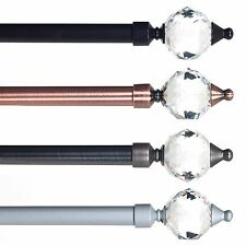 Lavish Home Prism Metal Curtain Rod 48 to 86 Inches Long Includes Hardware