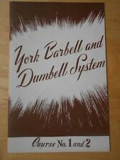YORK BARBELL AND DUMBELL SYSTEM Course No. 1 and 2 bodybuilding muscle booklet