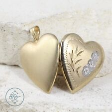 Gold Plated - Silver Accent Heart Photo Locket (Opens!) 3g - Pendant AI7559
