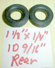 "1PR 1960's rear ribbed Goodyear tires by Revell Monogram 1 1/8""X1/4""x9/16"" 1/24"