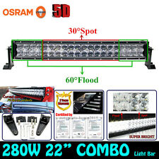 OSRAM 5D 280W 22INCH Curved LED Spot Flood Combo work Light Bar DRIVING Offroad