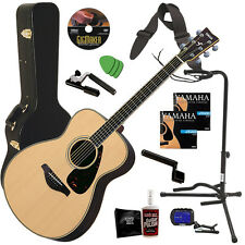 Yamaha FS730S Acoustic Guitar - Natural COMPLETE GUITAR BUNDLE