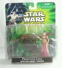 Star Wars Power Of The Jedi Princess Leia With Sail Barge Cannon Action Figure