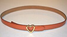 Vintage Moschino Orange Leather Skinny Ladies Belt