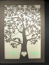 50 Sets Laser Cut Tree and love birds Pocket Wedding Invitation Cards,invites
