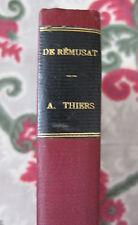 1889 A. Thiers par De Rémusat Les grands écrivains français biographie