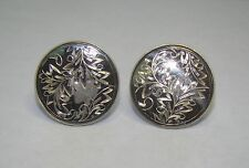 Japen Silver Engraved Round Cuff Links, Item# P630