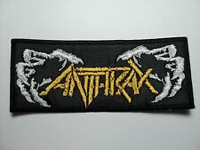 ANTHRAX   WHITE AND YELLOW  EMBROIDERED PATCH